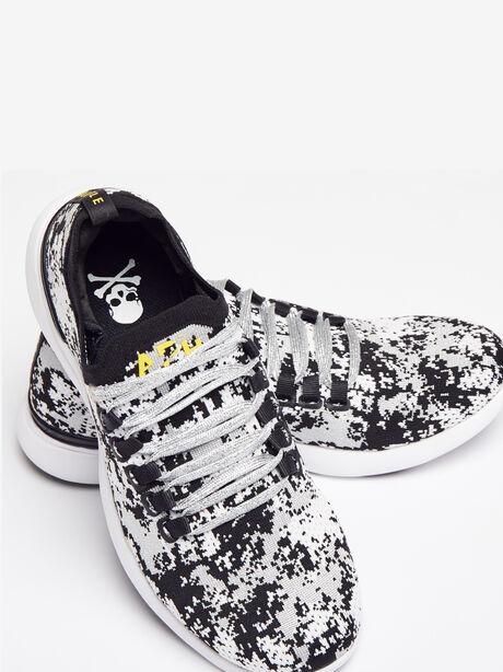 Men's Camo Breeze Sneaker, Black/Metallic Silver, large image number 0