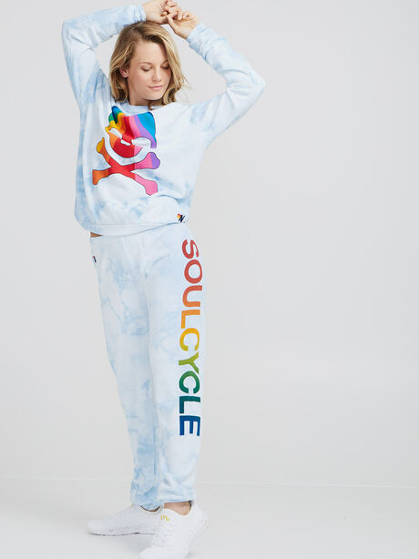 Tie-Dye Crewneck Sweatshirt, Blue, large image number 2