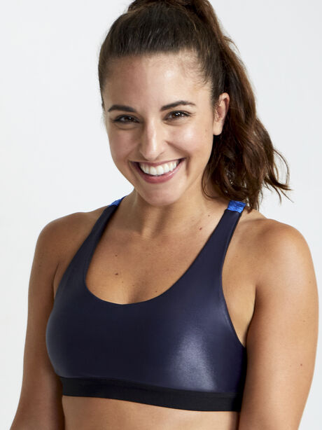 Tax Infinity Sports Bra, Blue, large image number 1