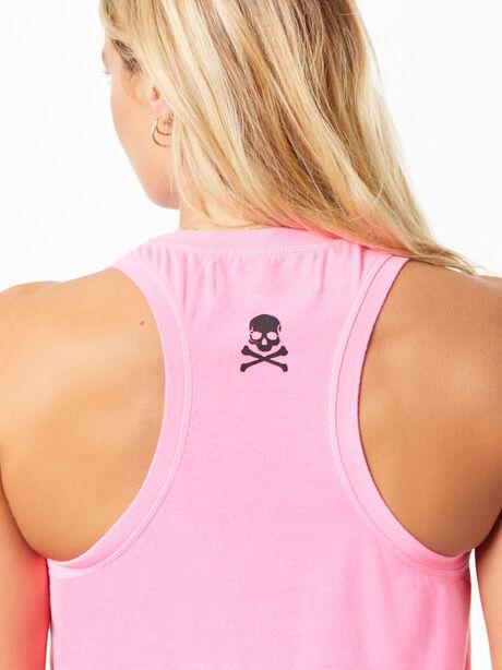 Tara Crop Tank Hot Pink, Hot Pink, large image number 3