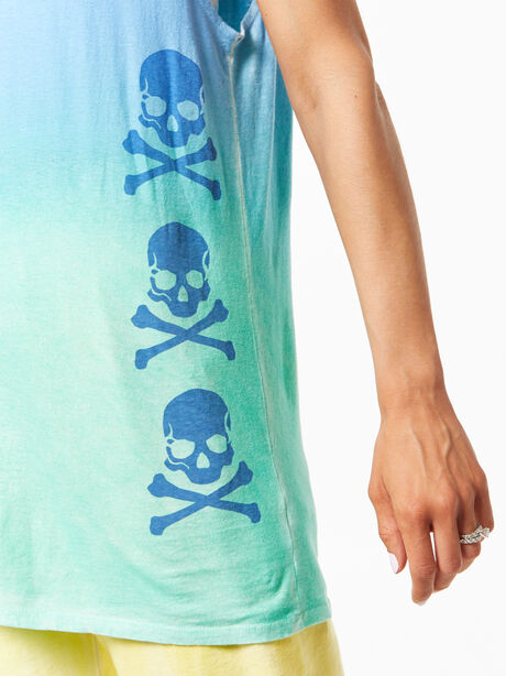 SOUL Green Recycled Cotton All Souls Muscle Tank Blue/Green, Blue/Green, large image number 1