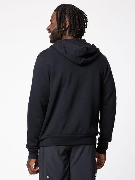 Unisex Fleece Zip Hoodie, Black, large image number 1