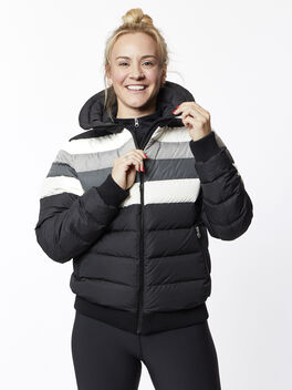 Queenie Jacket, Black/Grey/White, large