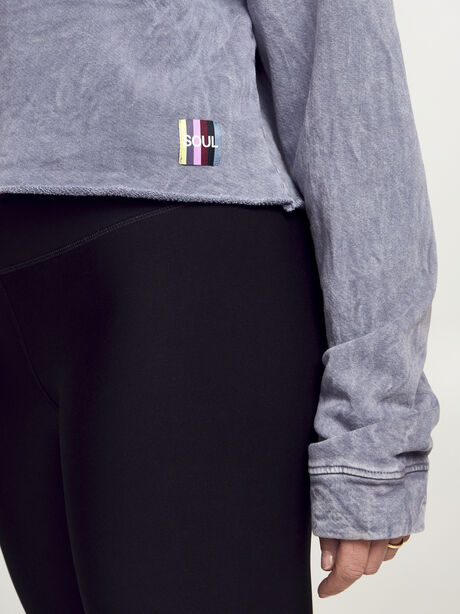 Casey Crop Sweatshirt, Dark Grey, large image number 2