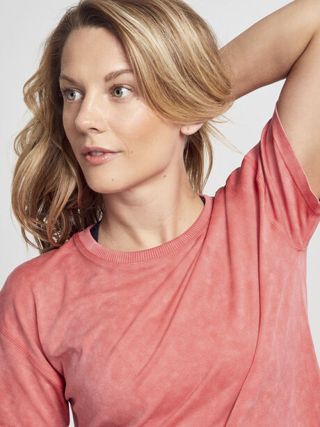 Boxy Seamless Tee Shirt, Bright Red, large image number 3
