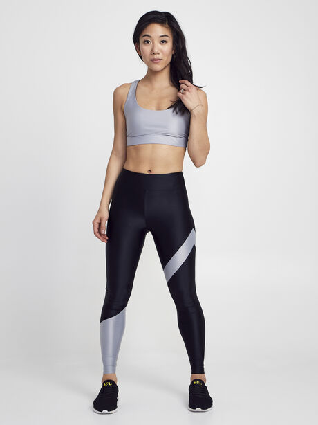 Black/Silver Appeal Energy High Rise Legging, Black/Silver, large image number 4