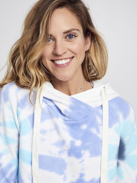 Exclusive Lissie Pullover Hoodie Sweatshirt, Blue Tied, large image number 1