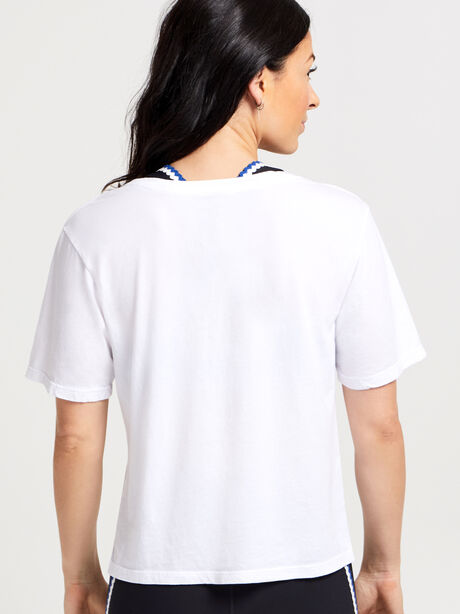 Boyfriend Shirt With Graphic, White, large image number 2