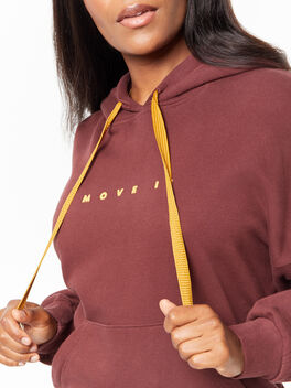 The Whip It Hoodie Brown Stone, Maroon, large