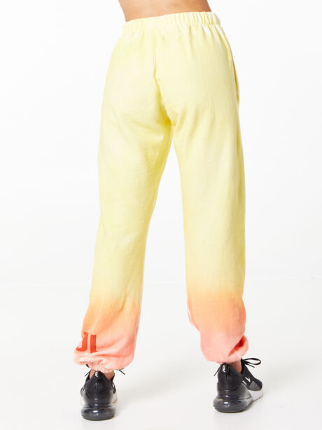 SOUL Green Recycled Cotton Billie Sweatpant Orange/Yellow, Yellow, large image number 3