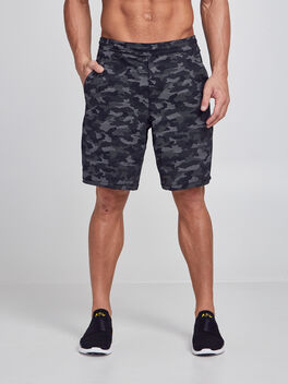 "Pace Breaker Lined Shorts 9"", Variegated Mesh Camo Black, large"