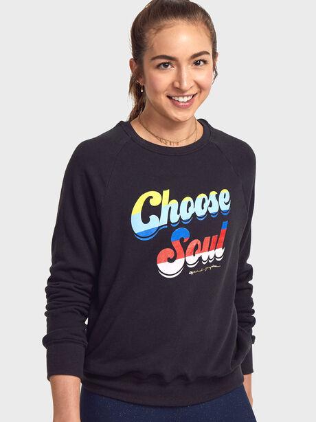Choose Soul Old School Pullover, Black, large image number 0