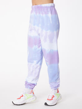 Tie-Dye Stevie Sweatpant Ice/Lavender, BLUE/PURPLE, large