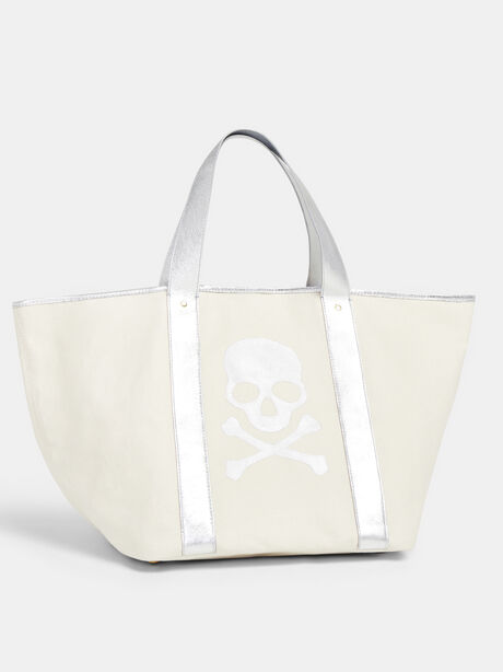 Canvas Skull Bag, Eco Ivory, large image number 0