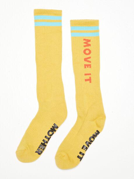 The Ra Ra Calf Sock Yellow, Yellow, large image number 0