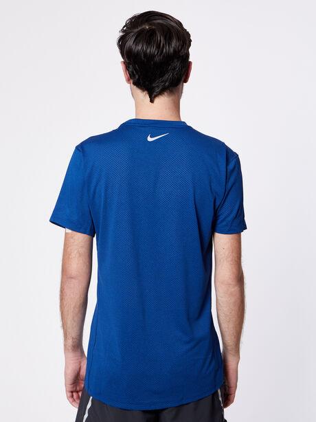 Cool Miler Short-Sleeve Top, Blue Void/Htr, large image number 1