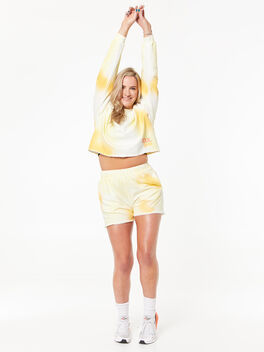 Zee Sweat Short Yellow Tie Dye, Yellow/White, large