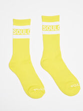 Mid-Calf Yellow Socks, Black, large