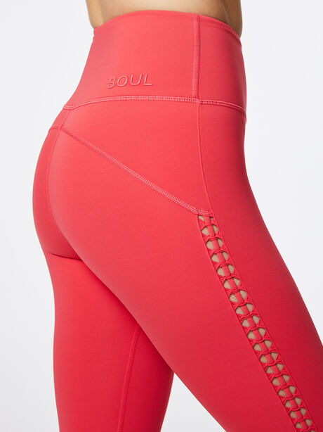 Looped Through High-Rise Podium Legging Teaberry, Hot Pink, large image number 1