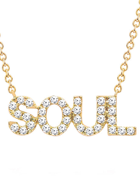 Diamond Necklace with Soul Exc, Gold, large image number 3
