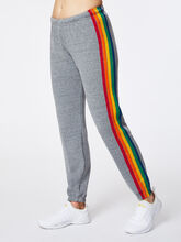 5 Stripe Sweatpant Heather Grey, Heather Grey, large