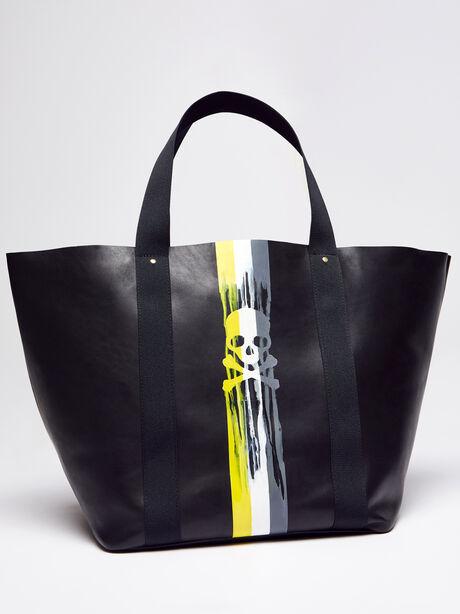 Big Daddy Dripping Skull Bag, Black, large image number 0