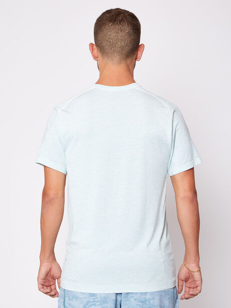 Metal Vent Tech Shortsleeve, White/White/Blue/Lime, large image number 3
