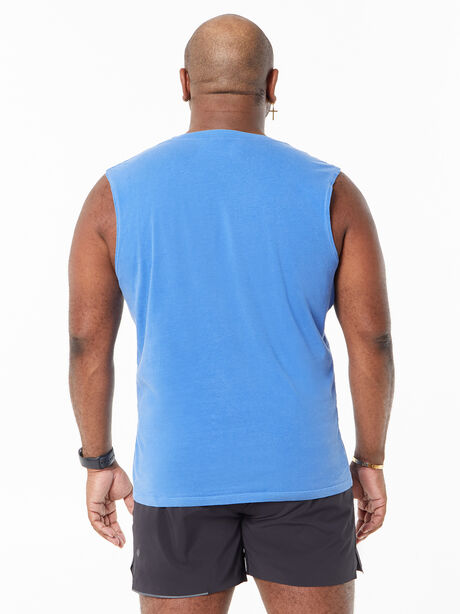All Souls Muscle Tank Blue, Blue, large image number 3