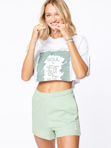 Exclusive Deconstructed Cropped T-Shirt White, White, large image number 0