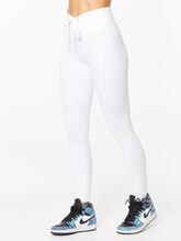 Ribbed Football Legging White, White, large
