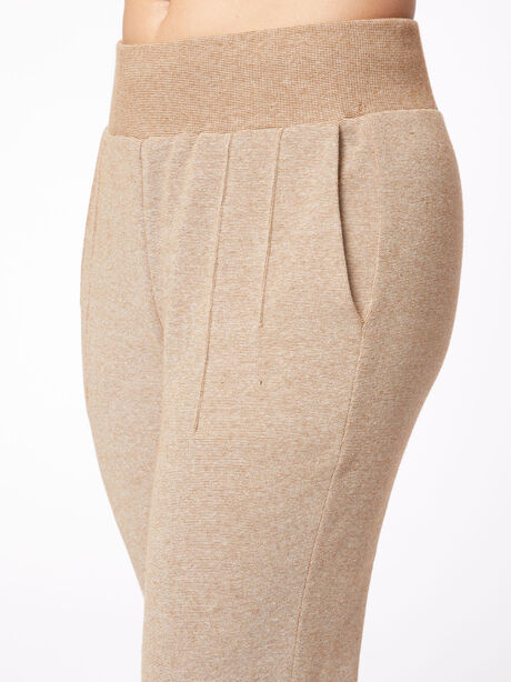 Amberley Ribbed Pique Jogger Biscuit, Tan, large image number 2