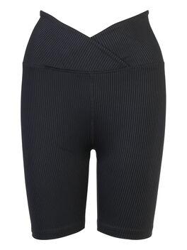 Ribbed Biker Short Black, Black, large