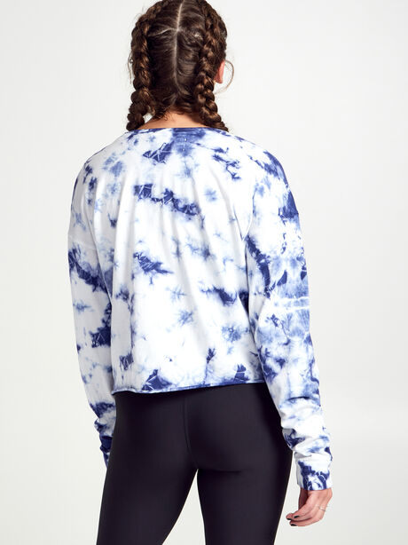 Tie-Dye Soul Long-Sleeve Shirt, Blue Tied, large image number 2