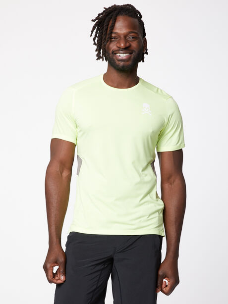 Fast and Free Short Sleeve, Heathered Solar Yellow/Carbon, large image number 0