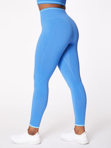 Ribbed Seamless Bra and Legging Kit Nebulous Blue, Blue Multi, large image number 6