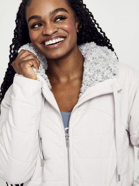 Sherpa Full Zip, Light Chrome/Heathered White, large image number 2