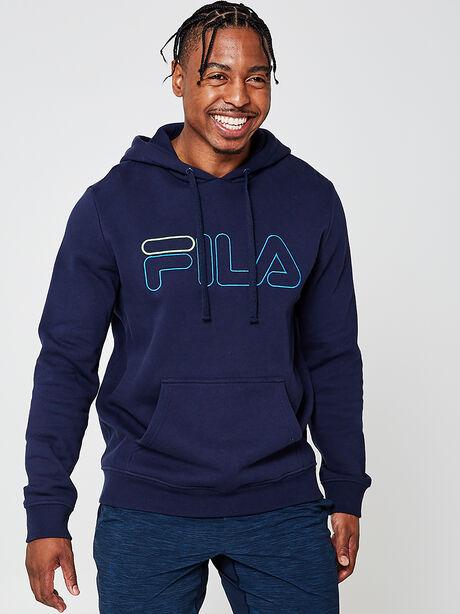 Fleece Hoodie Sweatshirt, Navy, large image number 0