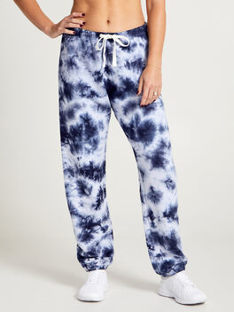 SUPER SLOUCHY SWEAT PANT, Navy/White, large