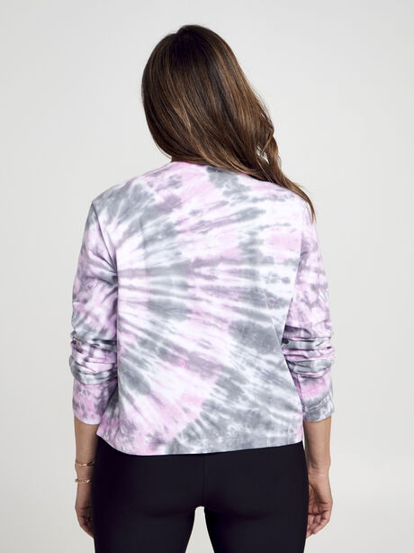 After Class Long Sleeve Tie Dye, Classic Charcoal/Hot Pink/Ref, large image number 1