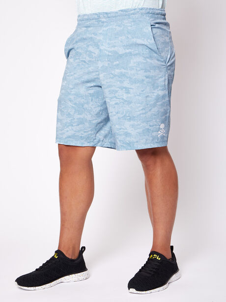 """Pacebreaker Shorts 9"""" Lined, Cross Hatch Camo Beachcomber M, large image number 0"""