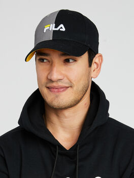 Split logo Baseball Cap, Black/Grey/White, large
