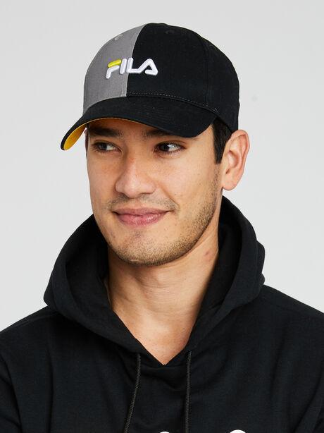Split logo Baseball Cap, Black/Grey/White, large image number 0