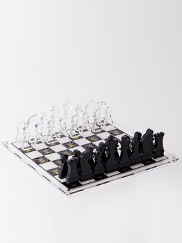 Exclusive Chess Set, White/Yellow, large