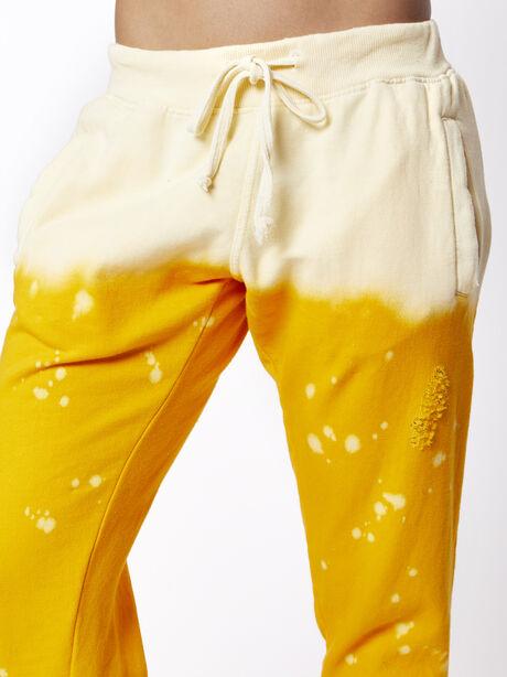 Acid Wash Sweatpant Sunrise, Yellow, large image number 1