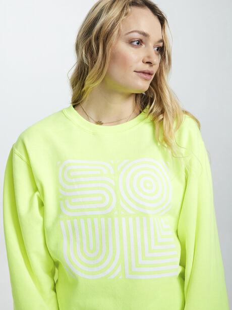 Neon Yellow Soul Crewneck Sweatshirt, Yellow, large image number 1