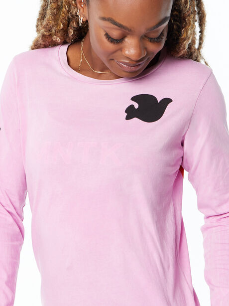 Artistswanted Supervintage Longsleeve Tee Pinkgumm Sunfade, Pink, large image number 1