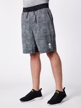 """T.H.E. Short 9"""" Lined, Cubed Ice Grey Black, large"""