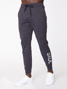 City Sweat Jogger Luon Jacquard Black/Obsidian, Black/Obsidian, large