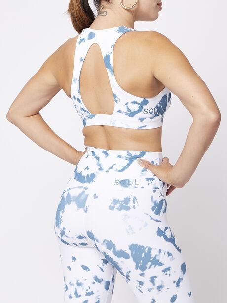 Tri Ring Back Bra, Blue/White, large image number 1