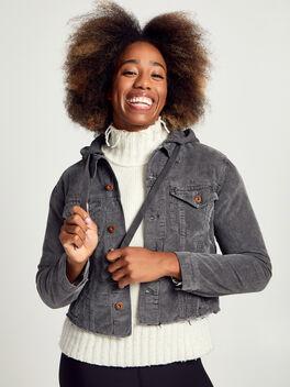 Rusty Crop Hooded Jacket, Black, large